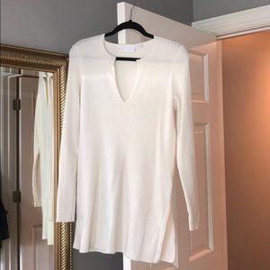 Anthropologie long cream sweater